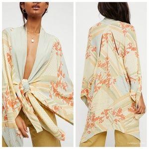Free People Morning Glory Printed Kimono